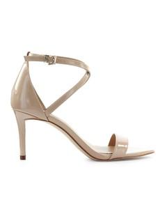 Michael Kors Ava Beige Patent Leather Sandal