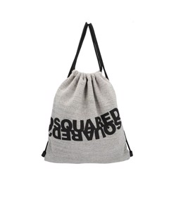 Dsquared2 Melange Grey Logo Fabric Backpack