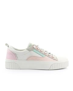 Michael Kors Oscar Lace Up Cream Sneaker