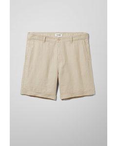Mash Linen Shorts Beige