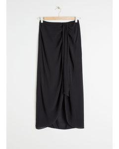 Midi Sarong Skirt Black