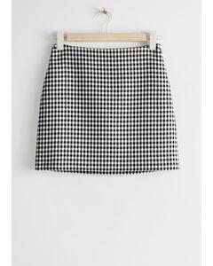 Check Mini Skirt Black Gingham