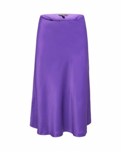 Skirt Light Woven Midi Purple