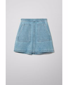 Maze Sky Blue Denim Skirt Blue