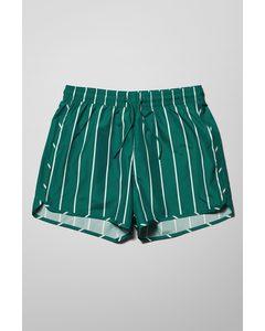 Tan Stripe Swim Shorts Turquoise