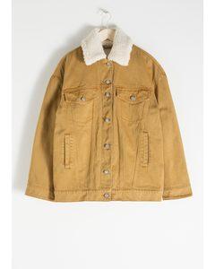 Organic Cotton Denim Jacket Yellow