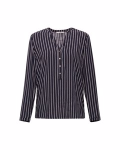 Blouse Woven Long Sleeve Navy
