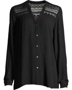 Blouse Woven Long Sleeve Black