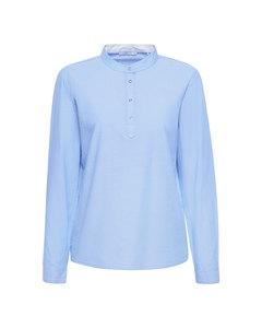 Blouse Woven Long Sleeve Light Blue