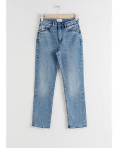 High Rise Slim Jeans Light Blue