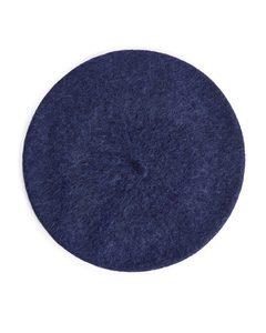 Alpaca Merino Blend Beret Dark Blue Melange