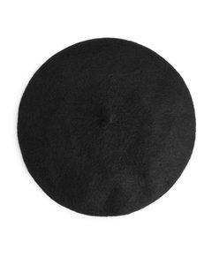 Alpaca Merino Blend Beret Black