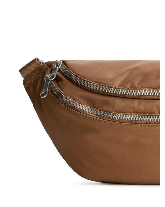 Arket Nylon Bum Bag Brown