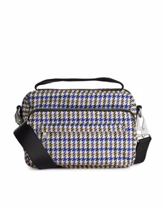 Nylon Camera Bag Beige/houndstooth