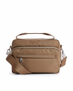 Nylon Camera Bag Beige
