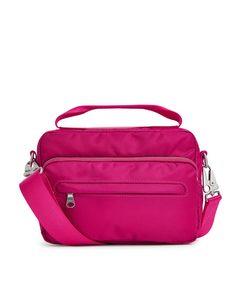 Nylon Camera Bag Pink