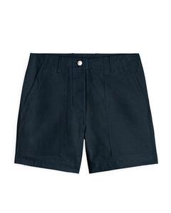 Cotton Twill Workwear Shorts Blue