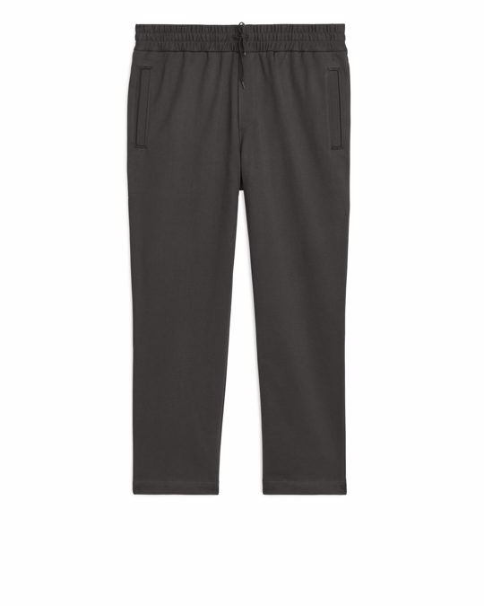 Arket French Terry Track Trousers Dark Grey