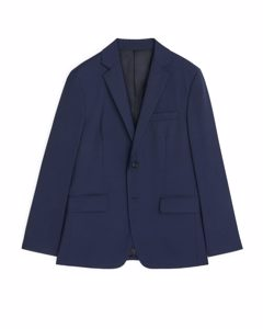 Classic Blazer Plain Weave Dark Blue
