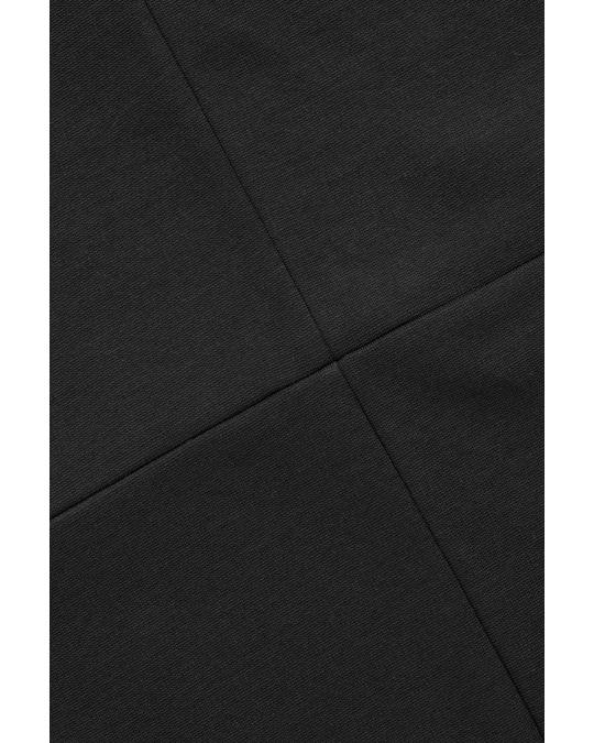 COS STRETCH-JERSEY V-NECK DRESS Black