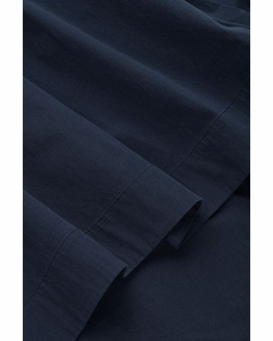 COS WAISTED DRESS WITH PLEATS Navy