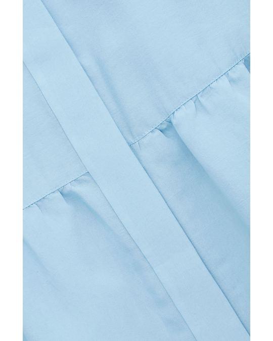 COS SHORT-SLEEVED GATHERED DRESS Light blue