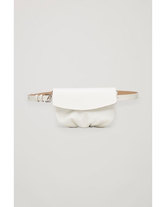 COS LEATHER BELT BAG Ivory