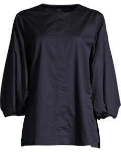 TOP WITH PLEATED SLEEVES Navy