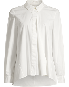 SHIRT WITH FRONT DRAPE White