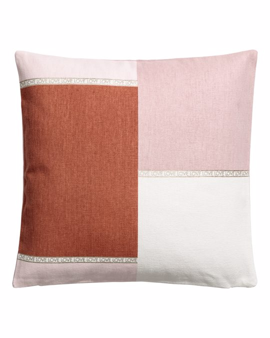 H&M HOME Block-patterned Cushion Cover Rust Brown/multicoloured