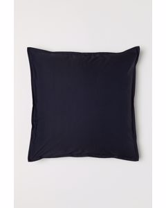 Enfärgat Kuddfodral Mörkblå