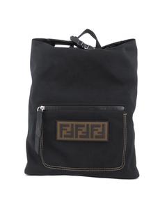 Fendi Zucca Santander Canvas Backpack Black