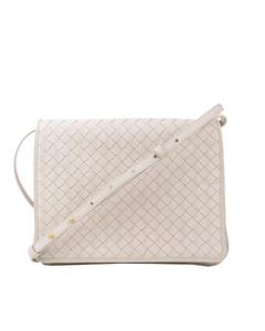 Bottega Veneta Intrecciato Leather Crossbody Bag White