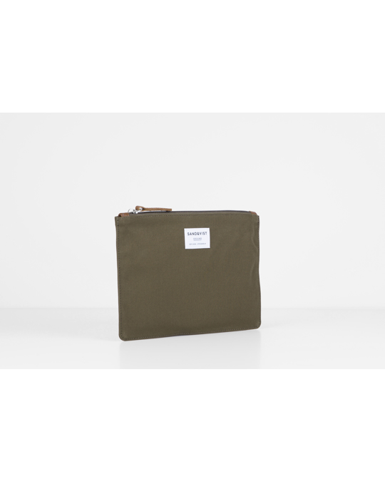 Sandqvist Ture M Olive With Cognac Brown Leather