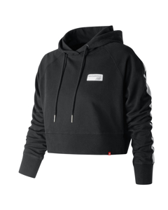 Nb Athletics Cropped Hoodie Black