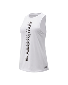 Graphic Heather Tech Train Tank White