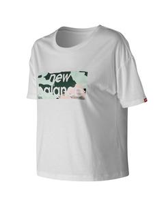 Essentials Aqua Camo Boxy T-shirt White