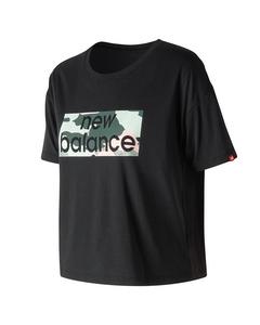 Essentials Aqua Camo Boxy T-shirt Black