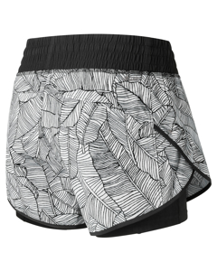 Printed Impact Short 4 In Black White