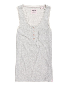 Emily Rib Loungewear Vest Sky Grey Marl