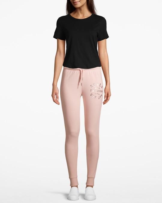Superdry Bella Loungewear Skinny Jogger Rose Pink Marl