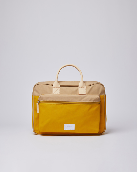 Sandqvist Emil Multi Yellow / Beige With Natural Leather