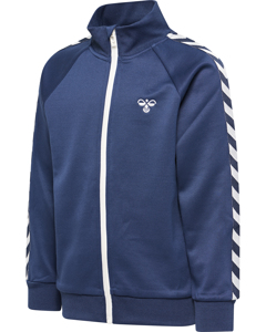 Zip Jacket With Arm Chevrons, A High Collar And A Zipper Cover