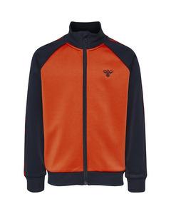 Hmlkick Zip Jacket Black Iris/tangerine Tango
