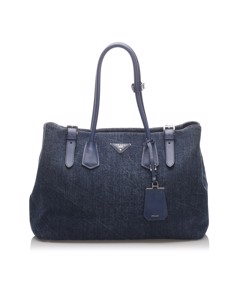 Prada Denim Tote Bag Blue