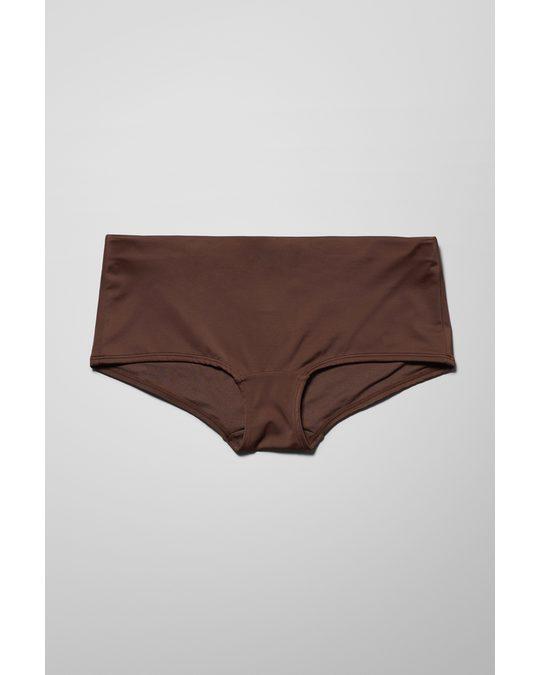 Weekday Ava Hipster Swim Bottoms Brown