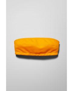 Bandeau Swim Top Yellow