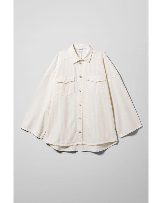 Weekday Samson Denim Shirt White
