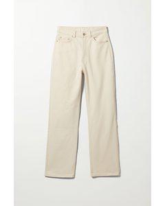 Rowe Extra High Straight Jeans Light Ecru