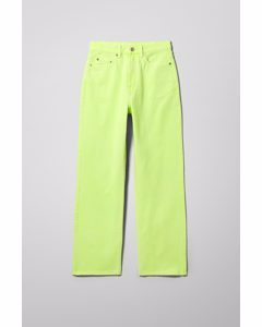 Rowe Extra High Straight Jeans Green